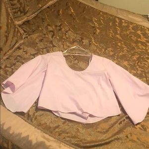 Pink back bow top!